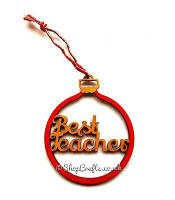 'Best Teacher' Christmas Bauble