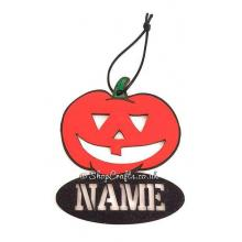 Personalised  pumpkin Halloween Tag/Decoration