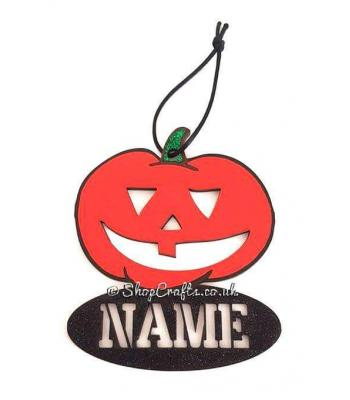 Personalised  pumpkin Halloween Tag/Decoration