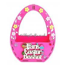 Personalised Easter Egg Shape Basket