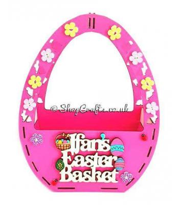 Personalised Easter Egg Shape Basket