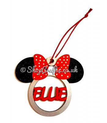 Personalised Minnie Mouse christmas tree bauble