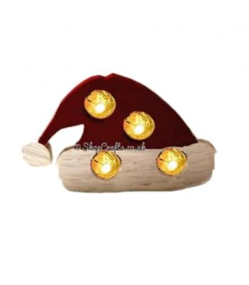 Freestanding 18mm thick Christmas Santa Hat Ferrero Rocher Chocolates Holder