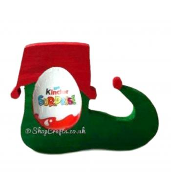 Freestanding 18mm thick Christmas Elf Shoe Kinder Egg Holder
