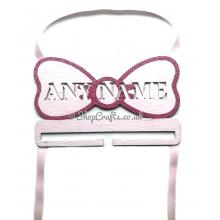 Personalised Name Hanging Bow Holder with Large Bow Shape