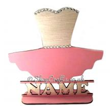 Childrens Personalised Ballet Tutu Shape on a Stand with Name