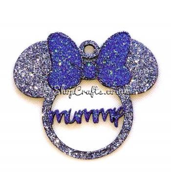 Personalised Name Girl Mouse Head Bauble with a Bow