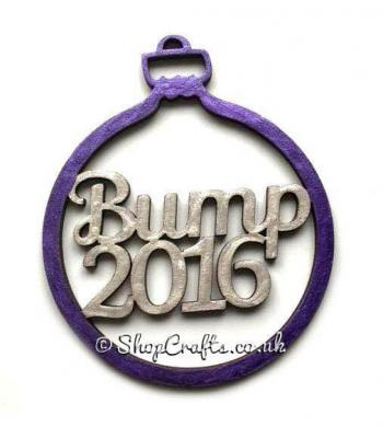 Baby 'Bump' Christmas Tree Bauble with Year of your choice