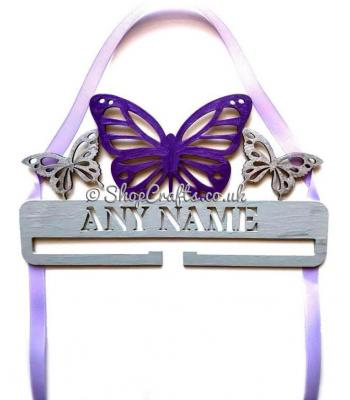 Personalised Butterfly Bow Holder
