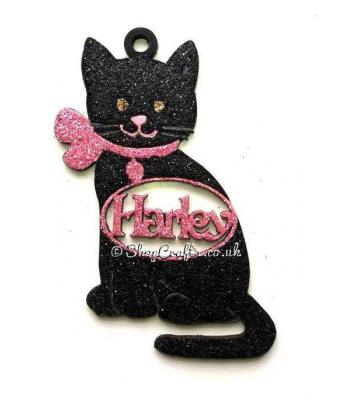Personalised Pet Cat Shape Christmas Tree Bauble - 130mm