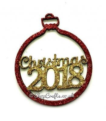 Christmas tree bauble with Year of your choice