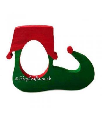 Freestanding Christmas Elf Shoe Kinder Egg Holder