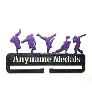 Personalised Break Dancer Medal Holder