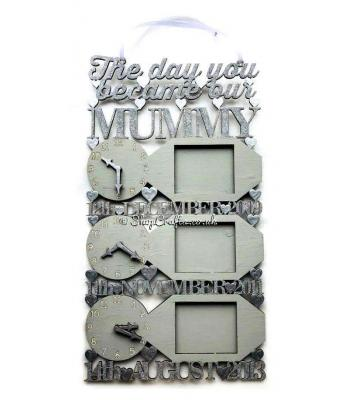The Day you Became our Mummy Hanging Clock & Frame Design