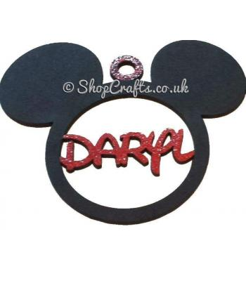 Personalised Mickey Mouse Name Bauble