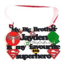 Personalised with name - my big brother is my favourite superhero