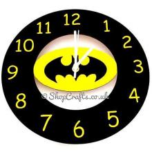 Batman logo wall clock