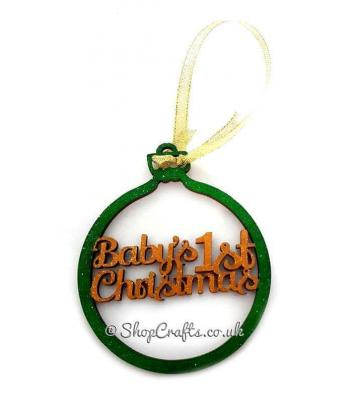 Baby's 1st Christmas tree bauble