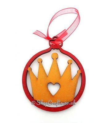 Princess Crown Christmas Bauble