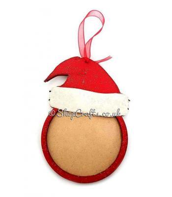 Santa Hat Photo Frame Christmas Tree Bauble
