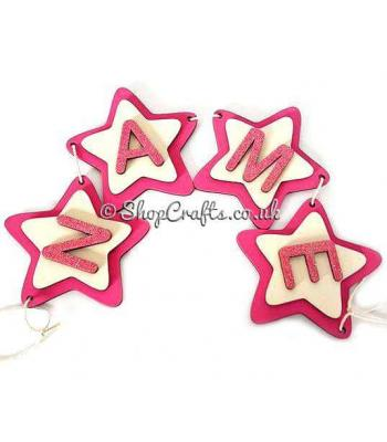 Personalised 3d star name bunting