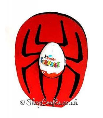Freestanding 18mm thick spider kinder egg holder
