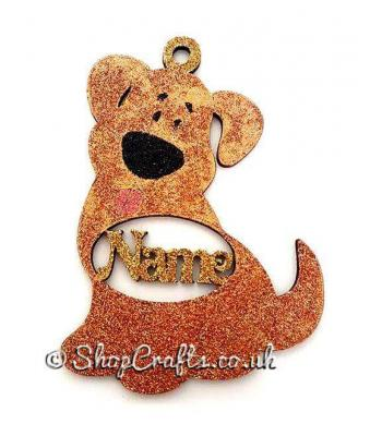 Personalised dog name pet bauble