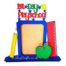 1st day at playschool,school,or nursery, photo frame on a stand