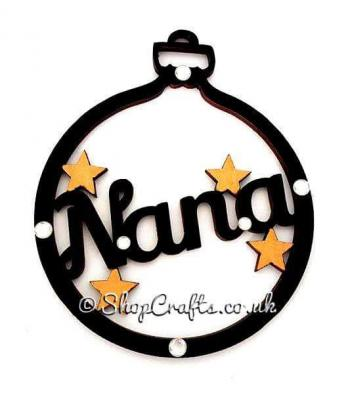 Family name christmas tree bauble