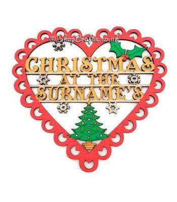 Personalised family christmas at the ' surname ' name sign