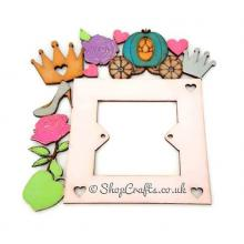 Princess themed shapes light switch surround