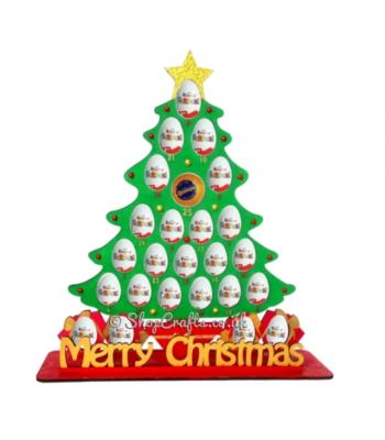 Reusable Christmas Tree 6mm Thick Kinder Egg and Chocolate Orange Advent Calendar