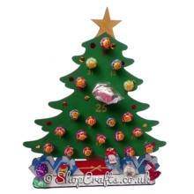 Reusable 3mm Thick Christmas Tree Lollipop advent calendar - More Designs Available