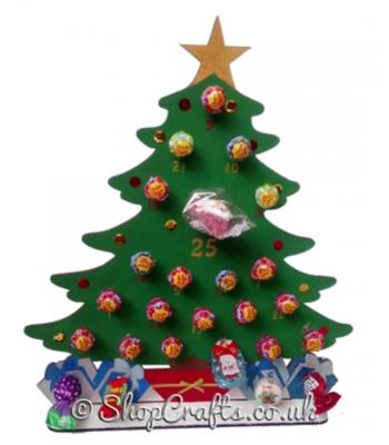 Reusable 6mm Thick Christmas Tree Lollipop advent calendar - More Designs Available