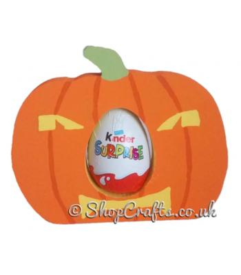 Pumpkin 18mm thick freestanding Chocolate Kinder Egg Holder *More designs available.