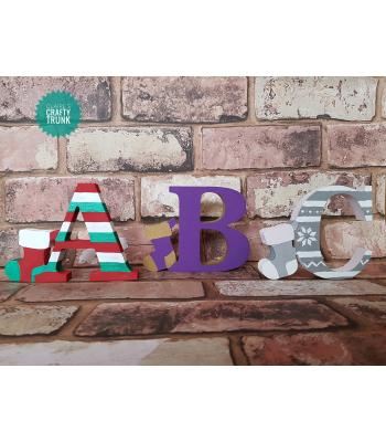 Christmas Stocking 18mm thick Freestanding Letter* More Designs Available