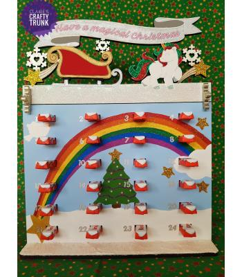 Have a Magical Christmas Unicorn Kinder Bar Advent calendar - More Designs and Options Available