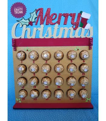 Merry Christmas Ferrero Rocher/ Lindt advent calendar - More Designs and Options Available.
