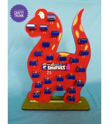 Dinosaur 6mm Reusable Treat Size Smarties Advent Calendar- More Designs Available