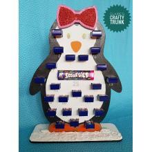 Penguin Girl Reusable Smarties Mini Boxes advent calendar - More Designs Available