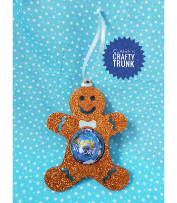 Reusable & Refillable Lindor Chocolate Hanging Gingerbread man Decoration - More Designs Available