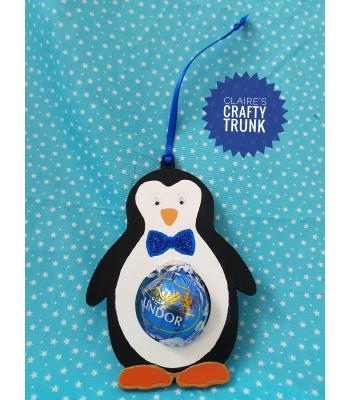 Reusable & Refillable Lindor Chocolate Hanging Penguin Decoration - More Designs Available