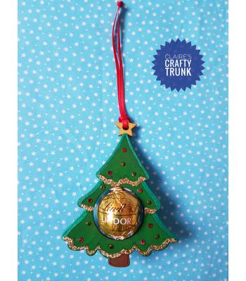 Reusable & Refillable Lindor Chocolate Christmas Tree Hanging Decoration - More Designs Available