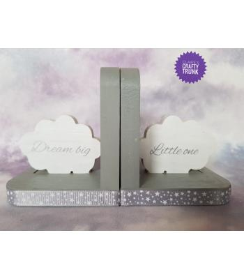 Dream Big Little One Cloud Freestanding Pair of Bookends - More Designs Available