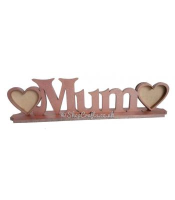 Mum Personalised Family Name with Photo Frames on Stand * More Designs Available.