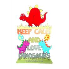 Keep Calm and Love Dinosaurs Hanging Sign * More Designs Available