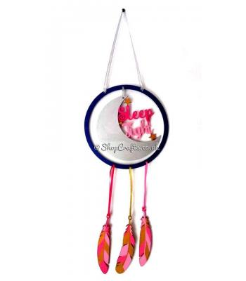 'Sleep Tight' Dream Catcher with Hanging Feathers