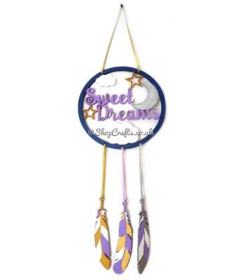 'Sweet Dreams' Hanging Dream Catcher with Stars and Moon Design