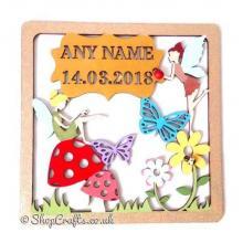 Fairy Birth Details Framed Sampler Plaque *More Designs Available
