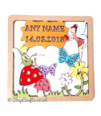 Fairy Birth Details Framed Sampler Plaque *More Designs Available